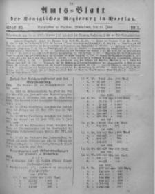 Amts-Blatt der Königlichen Regierung in Breslau, 1911, Bd. 102, St. 25