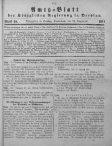 Amts-Blatt der Königlichen Regierung in Breslau, 1911, Bd. 102, St. 38