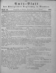 Amts-Blatt der Königlichen Regierung in Breslau, 1911, Bd. 102, St. 43