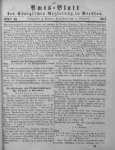 Amts-Blatt der Königlichen Regierung in Breslau, 1911, Bd. 102, St. 45