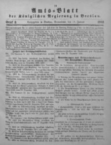Amts-Blatt der Königlichen Regierung in Breslau, 1912, Bd. 103, St. 2