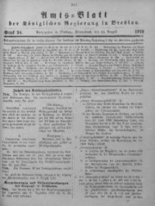 Amts-Blatt der Königlichen Regierung in Breslau, 1912, Bd. 103, St. 34