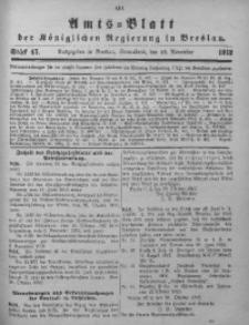 Amts-Blatt der Königlichen Regierung in Breslau, 1912, Bd. 103, St. 47