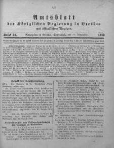 Amts-Blatt der Königlichen Regierung in Breslau, 1913, Bd. 104, St. 46