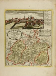Panorama Świdnicy i mapa księstwa świdnickiego