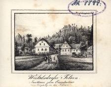 Weckelsdorfer Felsen Gasthaus zum Eisenhamer beim Eingang in die Felsen