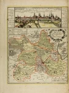 Panorama Legnicy i mapa księstwa legnickiego