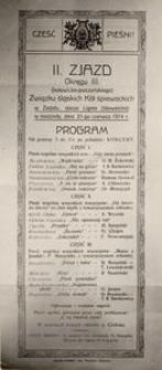 II. Zjazd [...] Związku śląskich Kół śpiewackich w Zadolu [...] dnia 21-go czerwca 1914 r.
