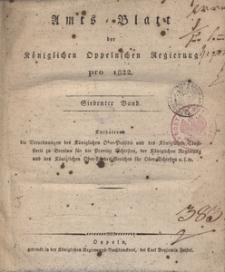 Amts-Blatt der Königlichen Oppelnschen Regierung pro 1822, 7. Bd.
