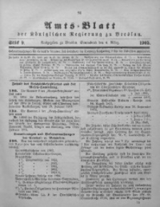 Amts-Blatt der Königlichen Regierung zu Breslau, 1905, Bd. 96, St. 9