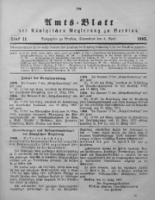 Amts-Blatt der Königlichen Regierung zu Breslau, 1905, Bd. 96, St. 14