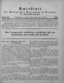 Amtsblatt der Königlichen Regierung in Breslau, 1915, Bd. 106, St. 26