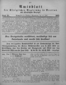 Amtsblatt der Königlichen Regierung in Breslau, 1915, Bd. 106, St. 28