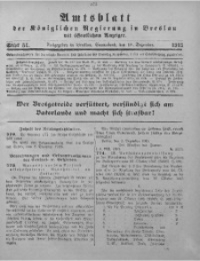 Amtsblatt der Königlichen Regierung in Breslau, 1915, Bd. 106, St. 51