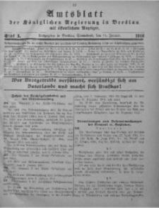 Amtsblatt der Königlichen Regierung in Breslau, 1916, Bd. 107, St. 3