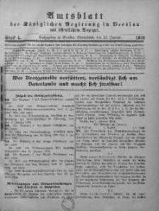 Amtsblatt der Königlichen Regierung in Breslau, 1916, Bd. 107, St. 4