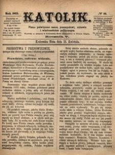 Katolik, 1872, R. 5, nr 16