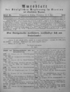 Amtsblatt der Königlichen Regierung in Breslau, 1916, Bd. 107, St. 28