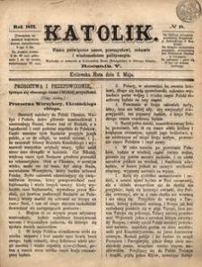 Katolik, 1872, R. 5, nr 18