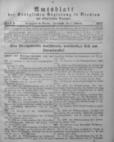 Amtsblatt der Königlichen Regierung in Breslau, 1917, Bd. 108, St. 5