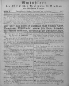 Amtsblatt der Königlichen Regierung in Breslau, 1917, Bd. 108, St. 6