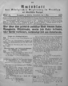 Amtsblatt der Königlichen Regierung in Breslau, 1917, Bd. 108, St. 18