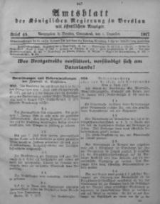 Amtsblatt der Königlichen Regierung in Breslau, 1917, Bd. 108, St. 48