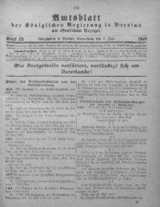 Amtsblatt der Königlichen Regierung in Breslau, 1918, Bd. 109, St. 23
