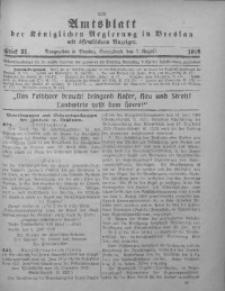 Amtsblatt der Königlichen Regierung in Breslau, 1918, Bd. 109, St. 31