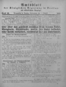 Amtsblatt der Königlichen Regierung in Breslau, 1918, Bd. 109, St. 33