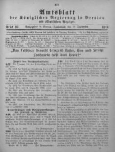 Amtsblatt der Königlichen Regierung in Breslau, 1918, Bd. 109, St. 37