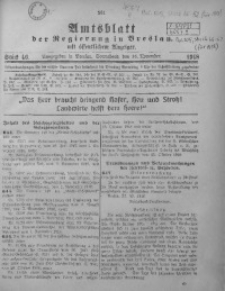 Amtsblatt der Regierung in Breslau, 1918, Bd. 109, St. 46