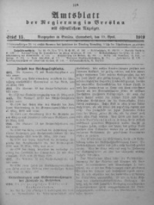 Amtsblatt der Regierung in Breslau, 1919, Bd. 110, St. 15