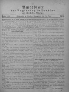 Amtsblatt der Regierung in Breslau, 1919, Bd. 110, St. 26
