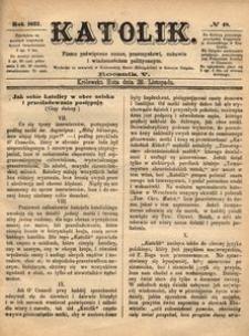 Katolik, 1872, R. 5, nr 48