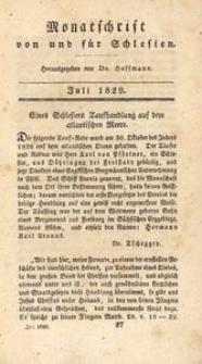Monatschrift von und für Schlesien, 1829, Juli