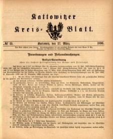 Kattowitzer Kreisblatt, 1896, nr13