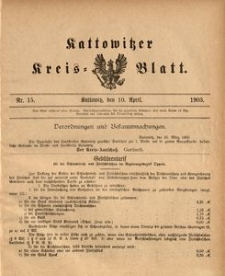 Kattowitzer Kreisblatt, 1903, nr15