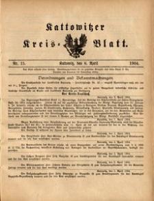Kattowitzer Kreisblatt, 1904, nr15