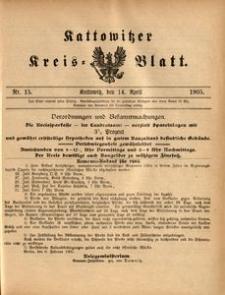 Kattowitzer Kreisblatt, 1905, nr15