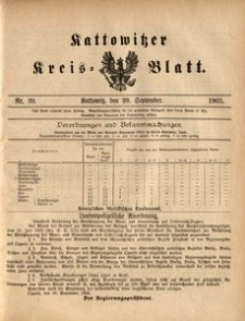 Kattowitzer Kreisblatt, 1905, nr39
