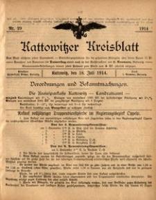 Kattowitzer Kreisblatt, 1914, nr29