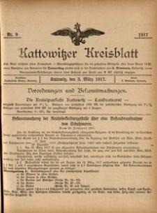 Kattowitzer Kreisblatt, 1917, nr9