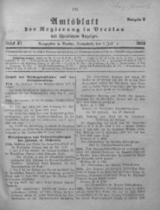 Amtsblatt der Regierung in Breslau, 1922, Bd. 113, St. 27