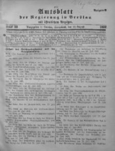 Amtsblatt der Regierung in Breslau, 1922, Bd. 113, St. 33