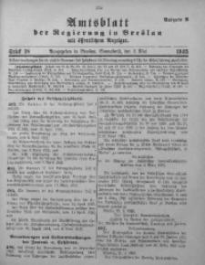 Amtsblatt der Regierung in Breslau, 1925, Bd. 116, St. 18