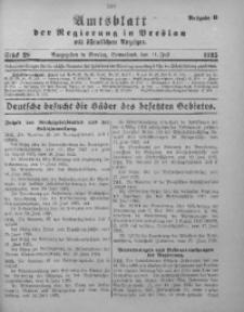 Amtsblatt der Regierung in Breslau, 1925, Bd. 116, St. 28