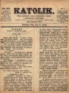 Katolik, 1873, R. 6, nr 7