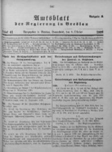 Amtsblatt der Regierung in Breslau, 1926, Bd. 117, St. 41