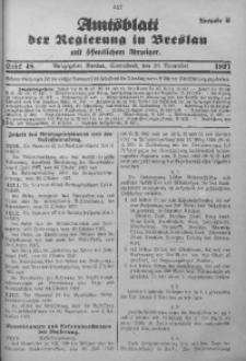Amtsblatt der Regierung in Breslau, 1927, Bd. 118, St. 48